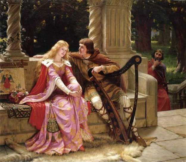 Edmund Leighton - Tristan and Isolde - 1902