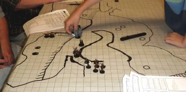 Drawing a dungeon as it's explored on gaming paper