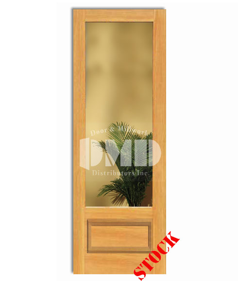 1 Lite French Clear Glass Bottom Panel 34 Pine 8 0 96