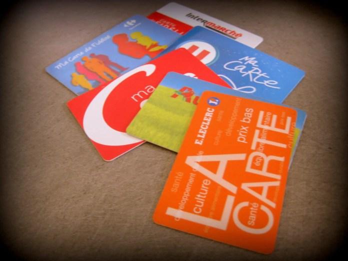 cartes de fidélité des supermarchés