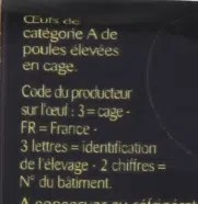 classification des œufs