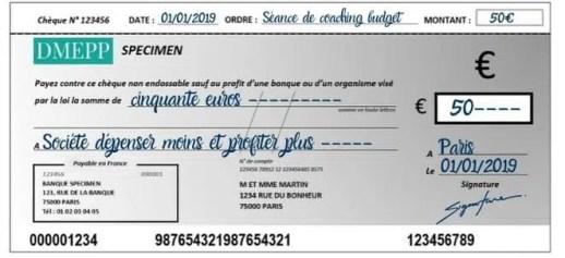 que faire du talon du chèque