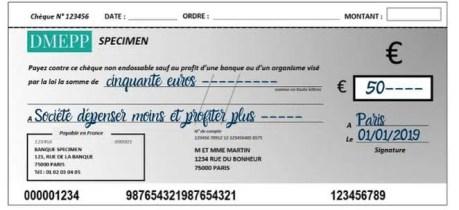remplir un chèque date