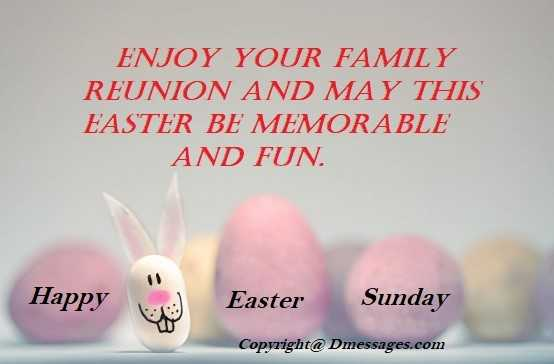 Messages for easter sunday