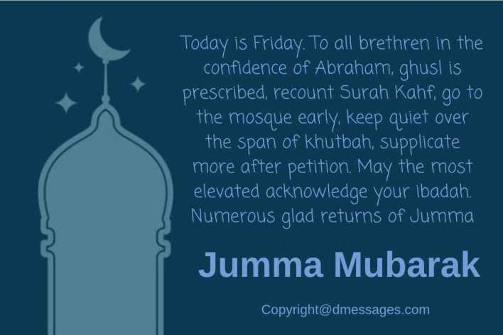 happy jumma mubarak message