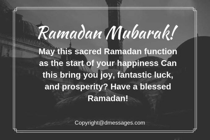 ramadan greeting sms english