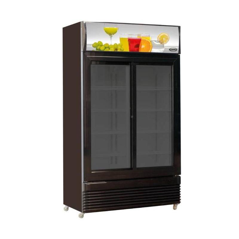 armoire a boisson 2 portes coulissantes vitrees 780l dmf chr