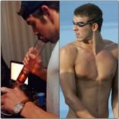 Michael Phelps hits the bong