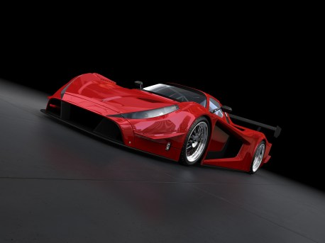"""3D Rendering image showing a concept design made by my own. This is one image out of a series with different angles. This is the perfect stuff for people how need race cars, supersport cars without any manufacture brand."""