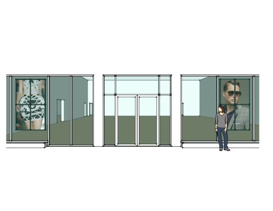 Digital Signage Portrait Video Wall rendering of equipment placement for installation by dmg Martinez Group in Miami