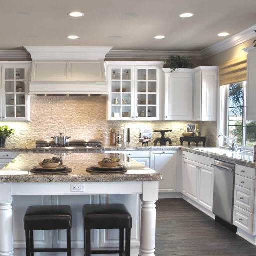 Sonance Visual Performance Series In-ceiling speakers in kitchen, in the Miami / Fort Lauderdale area. Available at dmg Martinez Group.