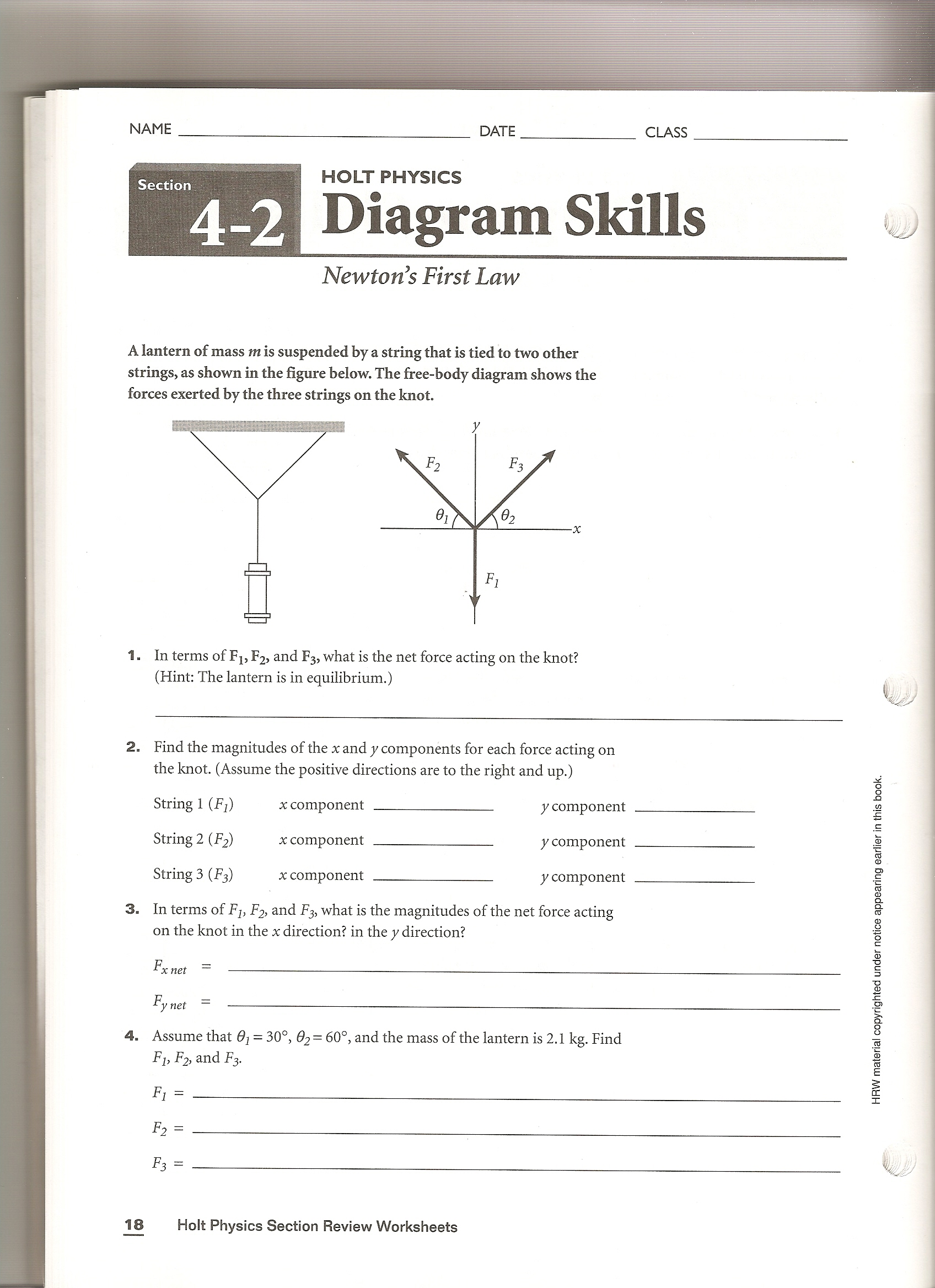 Holt Physics Diagram Skills Answers