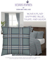 Woven Plaid Sapphire Blue, Taupe and Silver