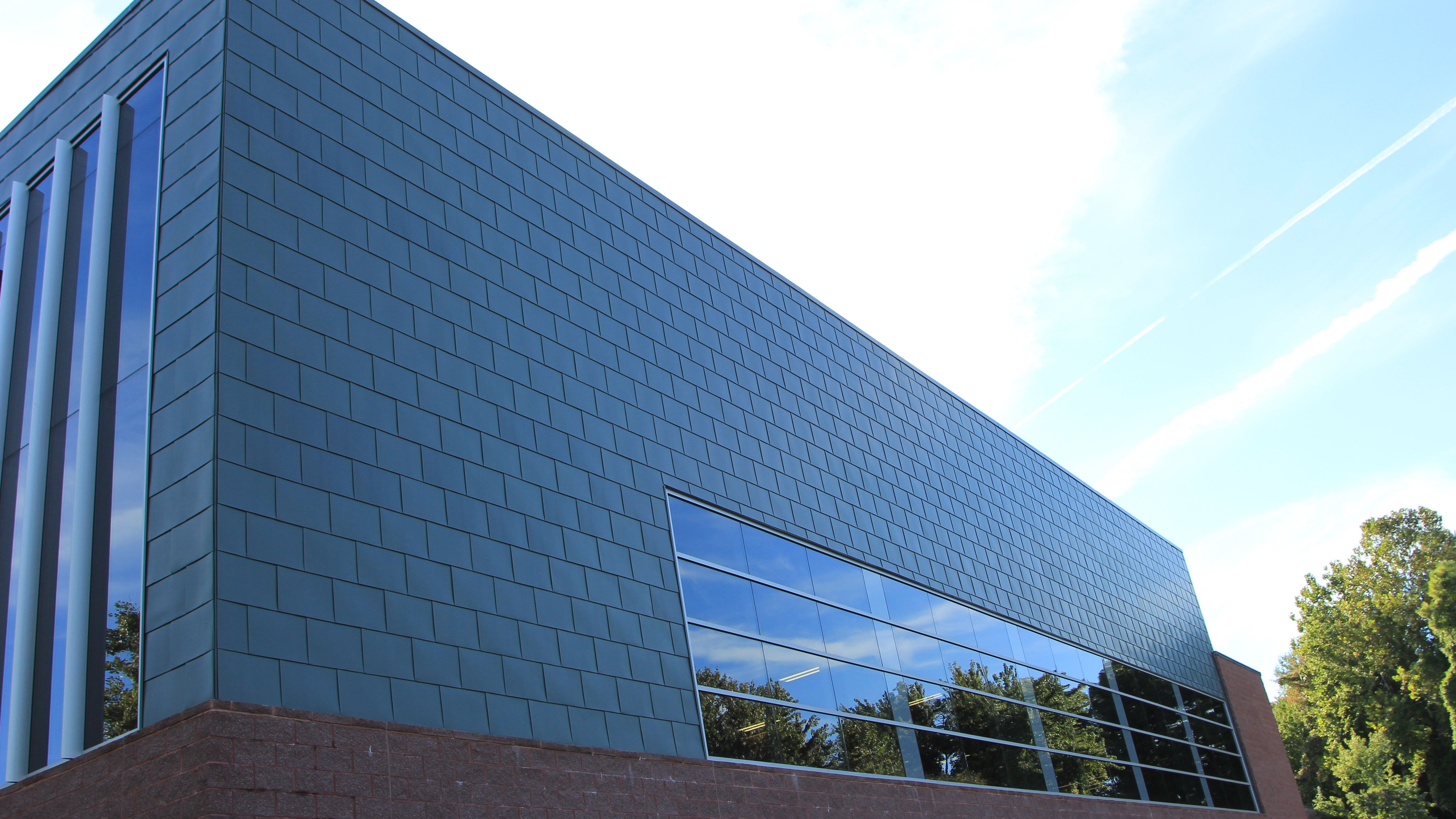 Blue Architectural Roof