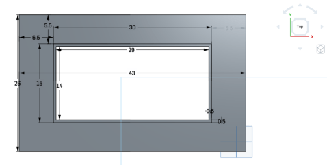 Top Frame measurement in inches