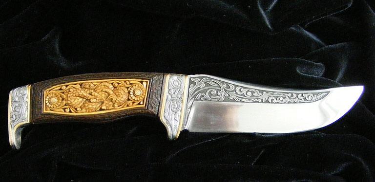 engraved knife