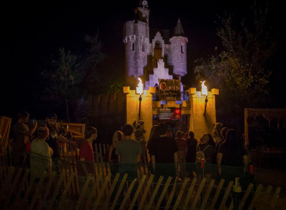 Cursed Castle at Screams Halloween Theme Park in Waxahachie in 2019.
