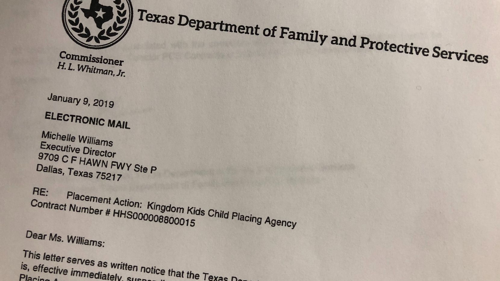 State Suspends Dallas Child Placing Agency After Infant