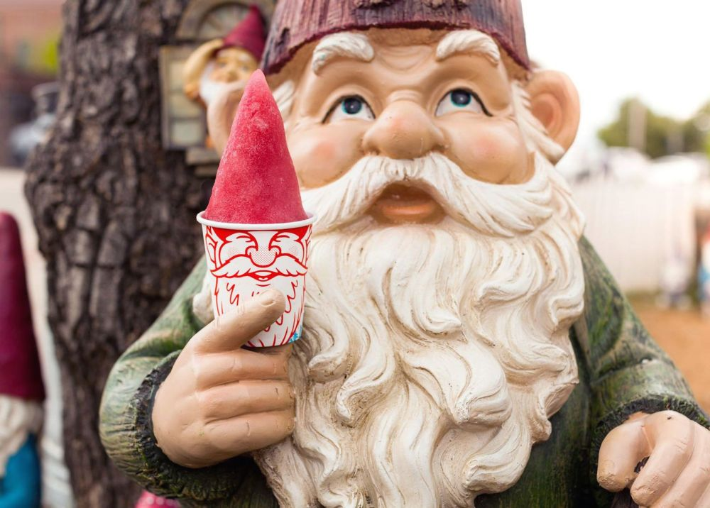 Gnome Cones are constructed to look like a hat.