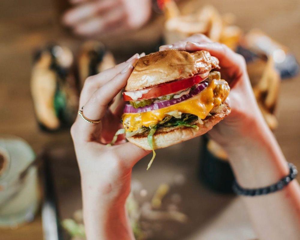 Jaxon's cheeseburger is a winner.