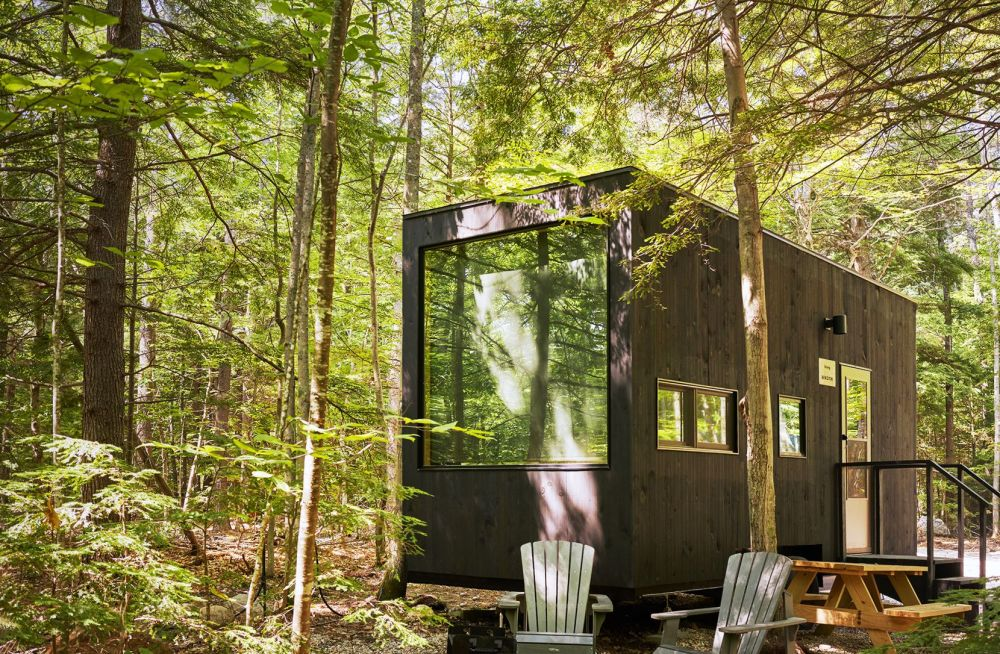"Getaway cabins offer ""a break from the city, technology and work."""