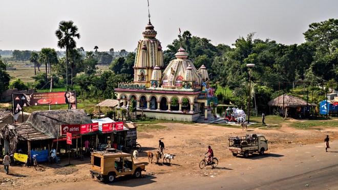 Roadside temple, Orissa