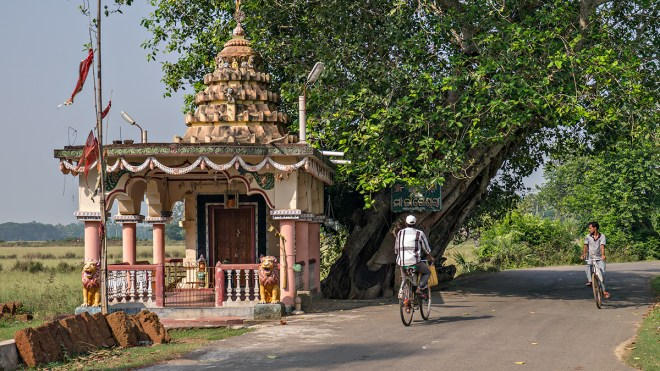 Roadside temple on a country road near Puri