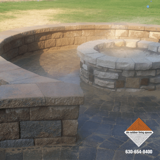 Stone Fireplaces | Circular Fit Pits | Outdoor Fireplaces on D&M Outdoor Living Spaces id=79953