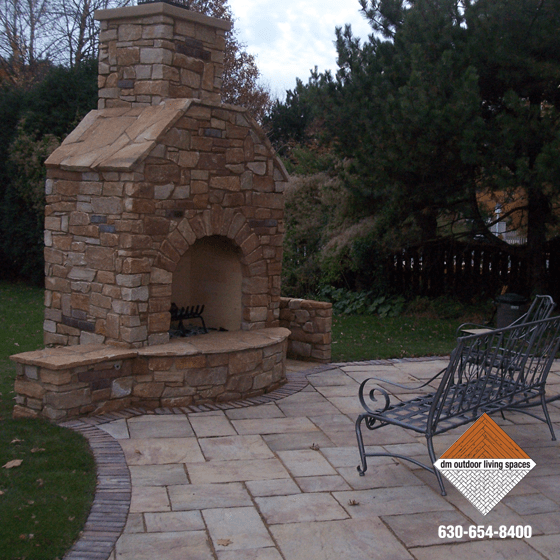 Stone Fireplaces | Circular Fit Pits | Outdoor Fireplaces on D&M Outdoor Living Spaces id=58170