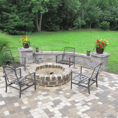 Stone Fireplaces | Circular Fit Pits | Outdoor Fireplaces on D&M Outdoor Living Spaces id=38157