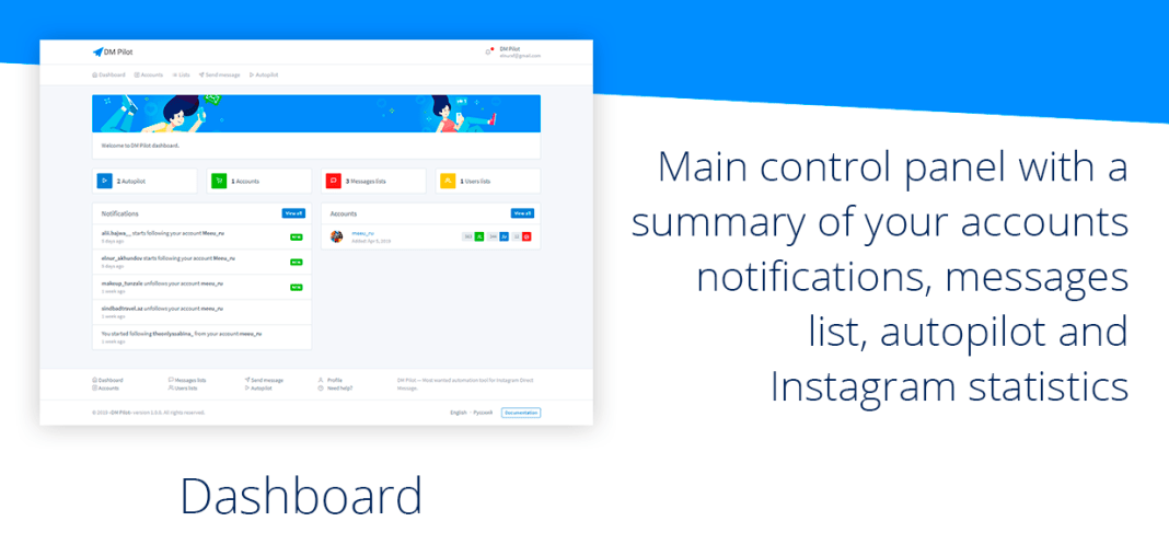 , DM Pilot — Instagram Most Wanted Automation Tool for Direct Message & Scheduled Posts, Laravel & VueJs