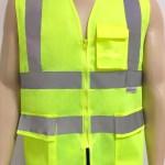 Colete de segurança refletivo amarelo com 3 bolsos