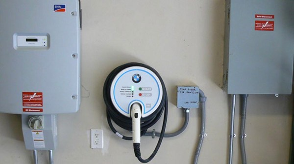 Walnut Creek Electric Vehicle Charger installed in home garage by DMR Electric