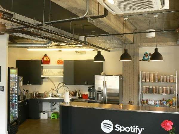Data and Phone Service routing for commercial space of spotify in San Francisco