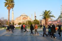 Istanbul, Hagia Sofia in the background