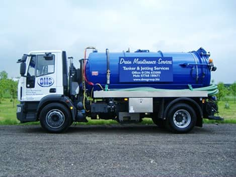 One of our DMS vacuum tankers