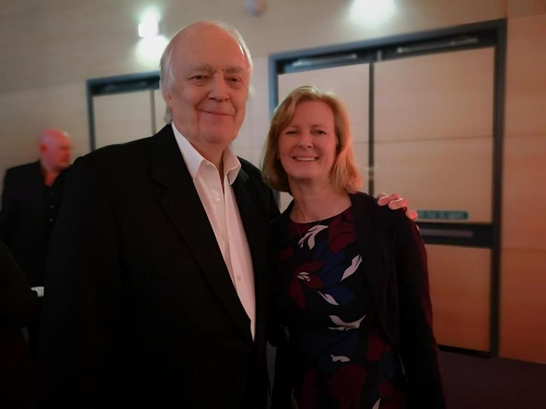 Alison Elrick with Tim Rice