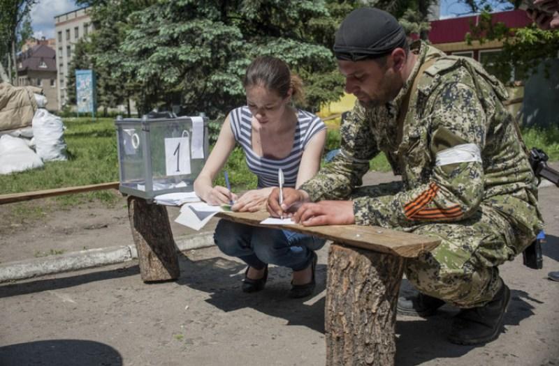 """Слов""""янськ, """"референдум """"ДНР"""" 11 травня 2014 року."""