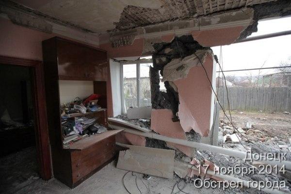 Из-за обстрелов пострадали жилые дома в Киевском районе ...