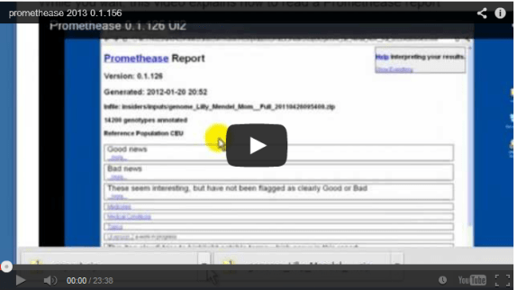 Promethease instructional video