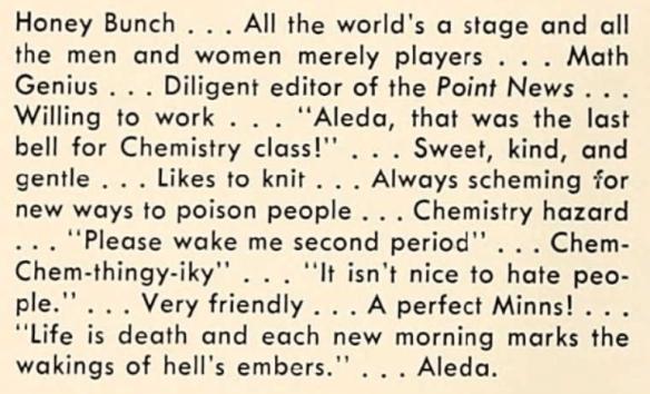 Aleda's high school 2
