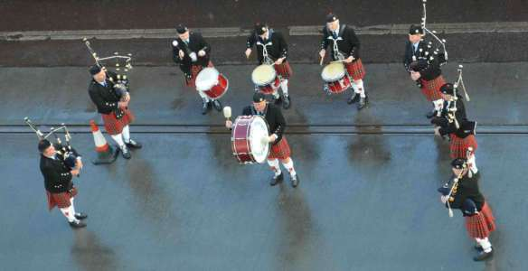 Scotland bagpipers