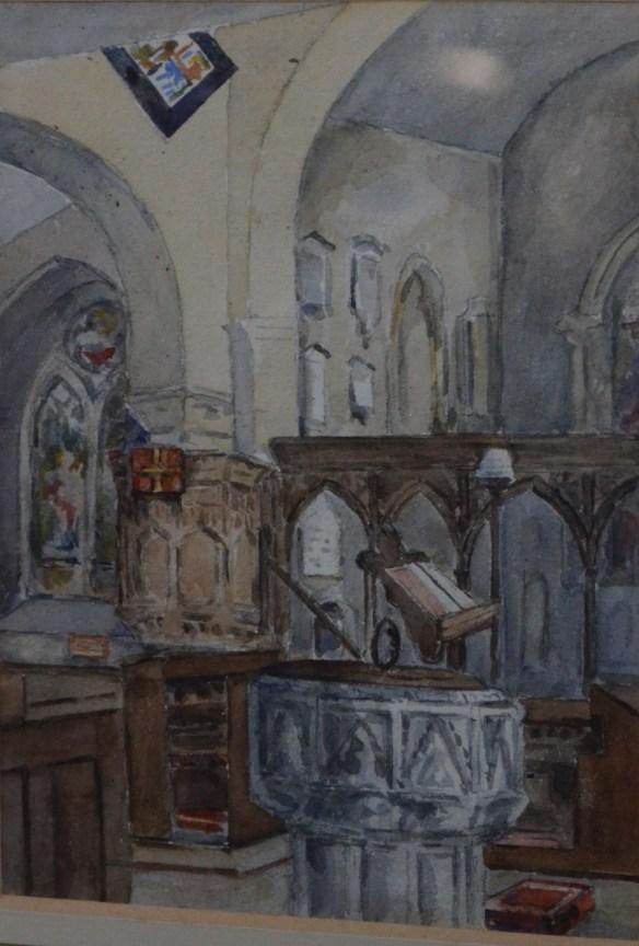st leonard painting bapistry