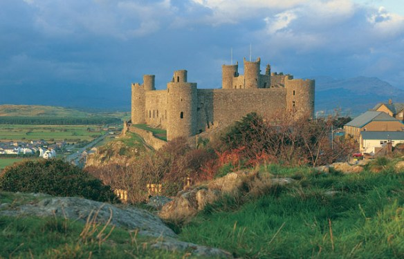 Harlech Castle - A general view of the castle
