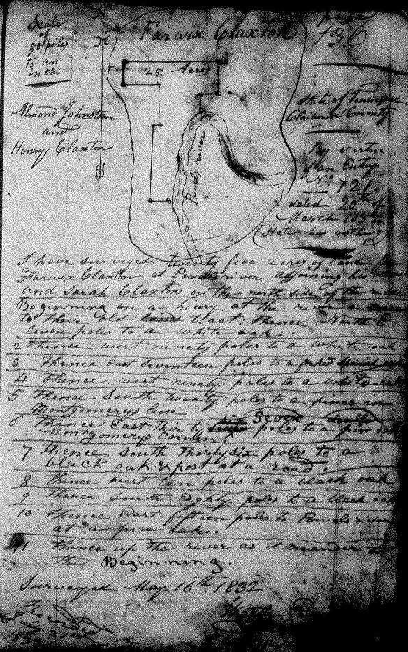 Fairwick Clarkson 1832