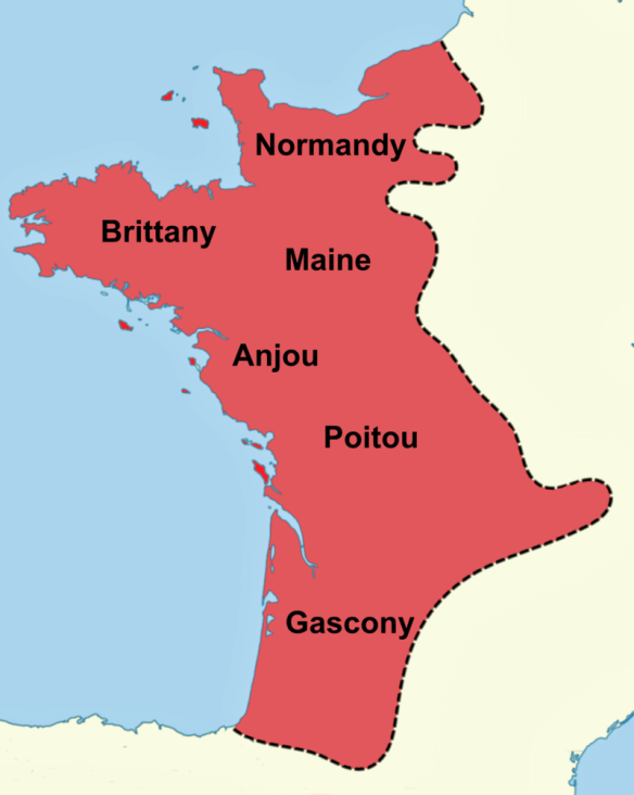 Plantagenet land in France