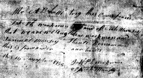 1788 Workman Muncy letter