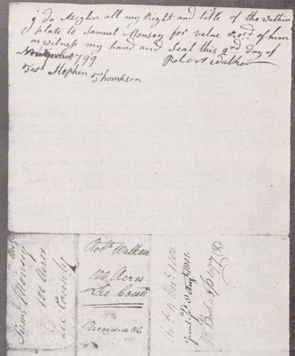 1799 survey Walker to Muncy