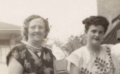 Joice Hatfield and Virginia Estes crop