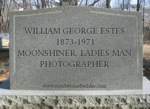 William George Estes tombstone